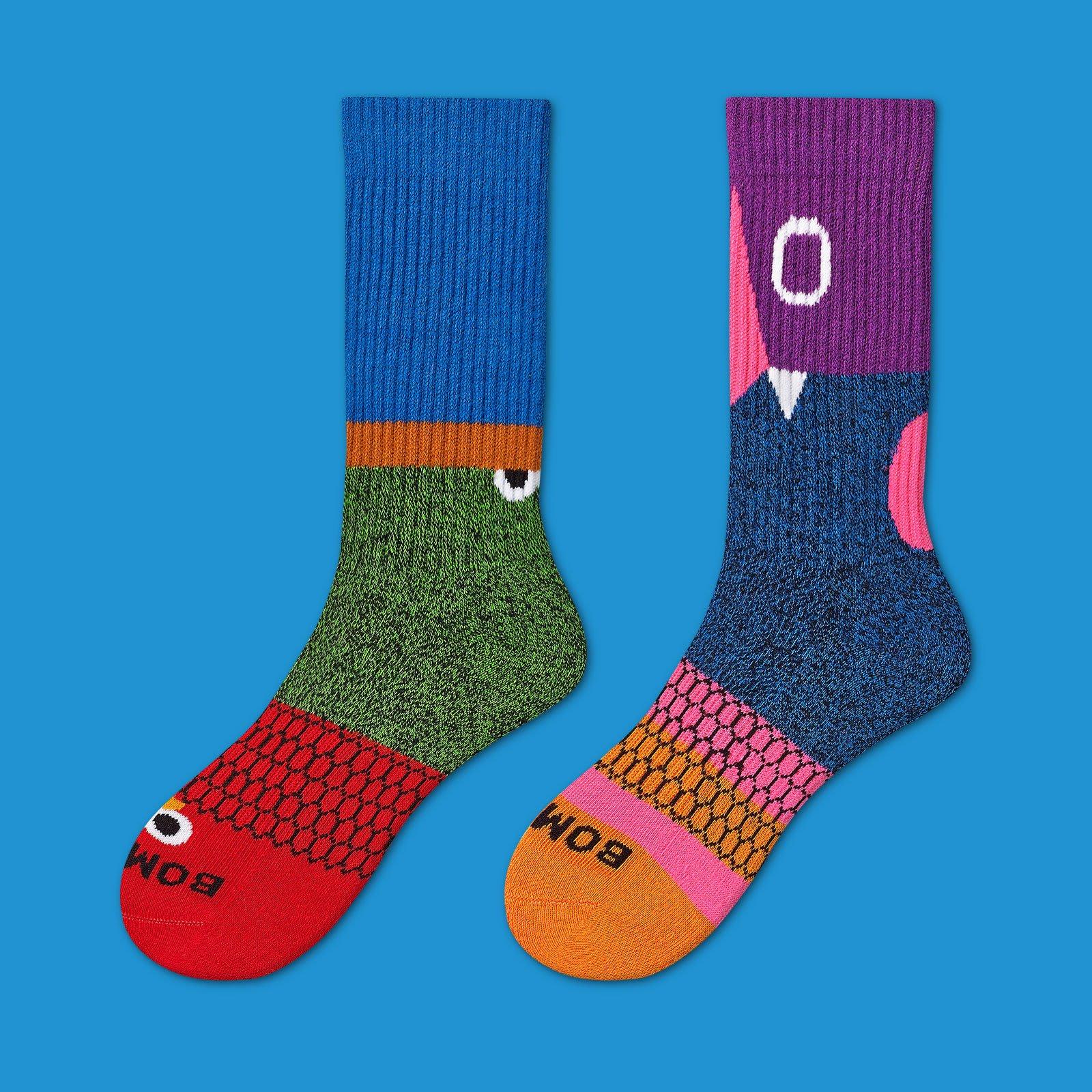 Men's Sesame Street 50th Anniversary Colorblock Calf Socks by Bombas