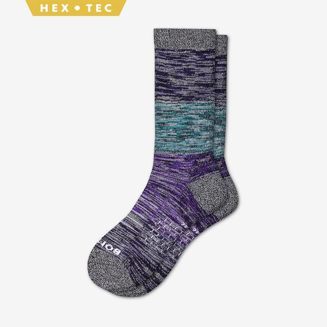astral-aura-teal-purple Women's Hiking Colorblock Calf Socks