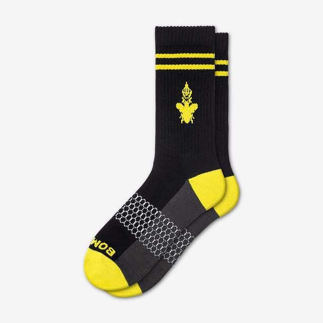 black-and-canary-yellow Men's Originals Calf Sock