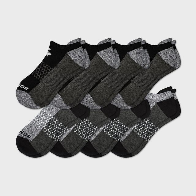 black-and-charcoal Men's Originals Ankle Sock 8-Pack