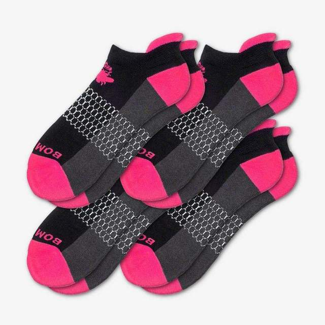 black-and-hot-pink Women's Originals Ankle 4-Pack