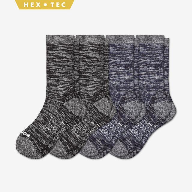 black-and-navy Women's Hiking Calf Sock 4-Pack