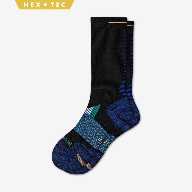 black-blue-green Men's Performance Running Calf Sock