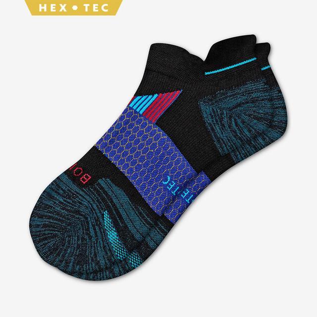 black-grey-green-blue Men's Performance Running Ankle Sock