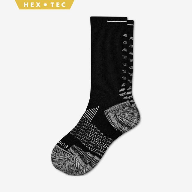 black Men's Performance Running Calf Sock