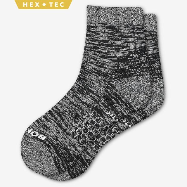 black Women's Hiking Quarter Socks