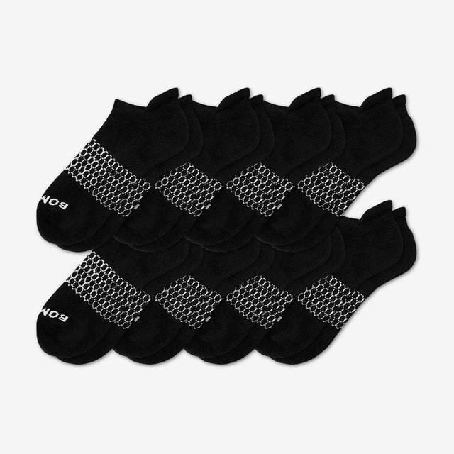 black Men's Solids Ankle 8-Pack