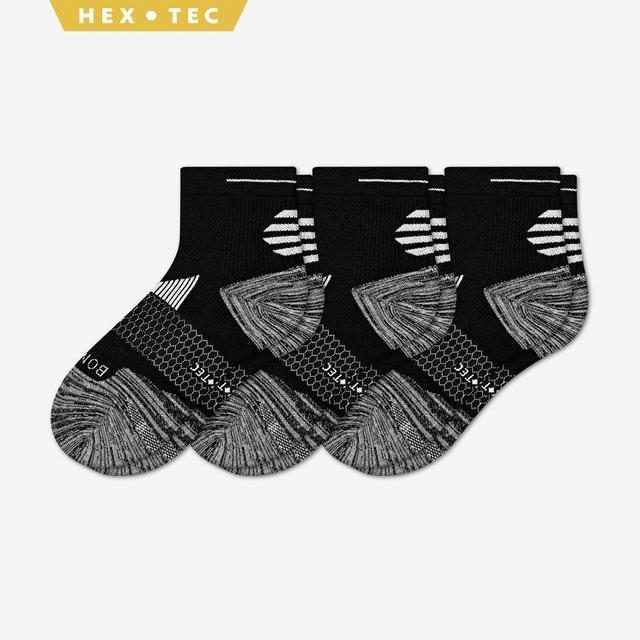 black Women's Performance Running Quarter Sock 3-Pack