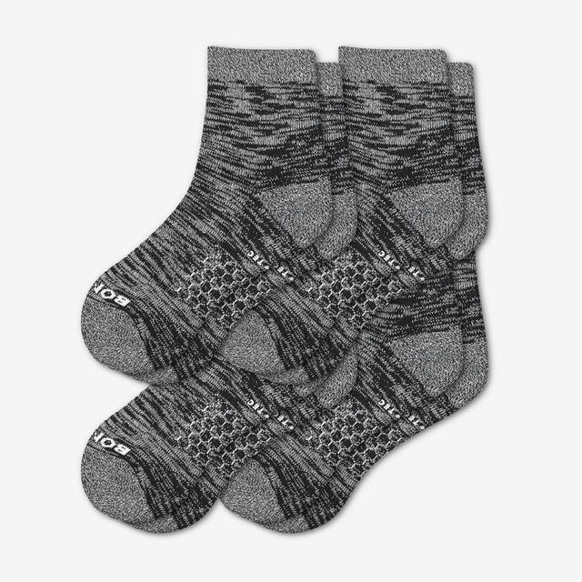 black Men's Hiking Quarter Sock 4-Pack