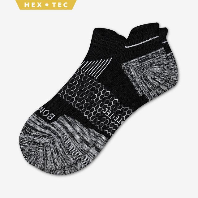 black Men's Performance Running Ankle Sock