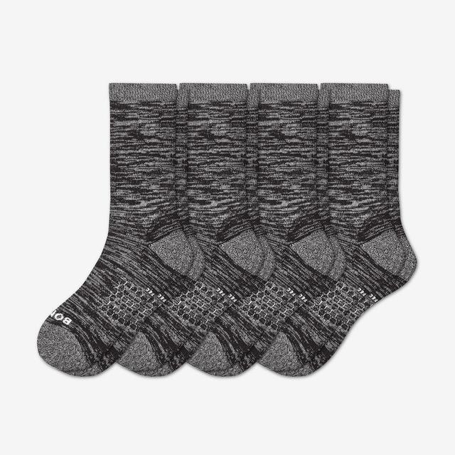 black Women's Hiking Calf Sock 4-Pack