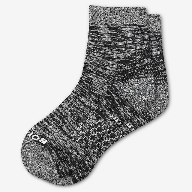 black Men's Hiking Quarter Socks