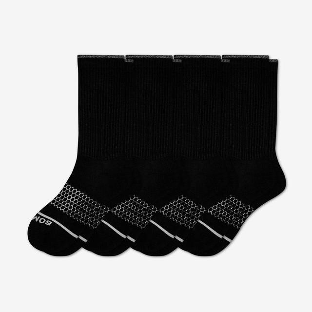 black Women's Merino Wool Calf Sock 4-Pack
