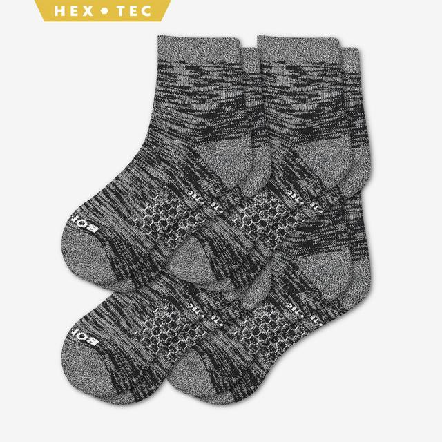 black Women's Hiking Quarter Sock 4-Pack