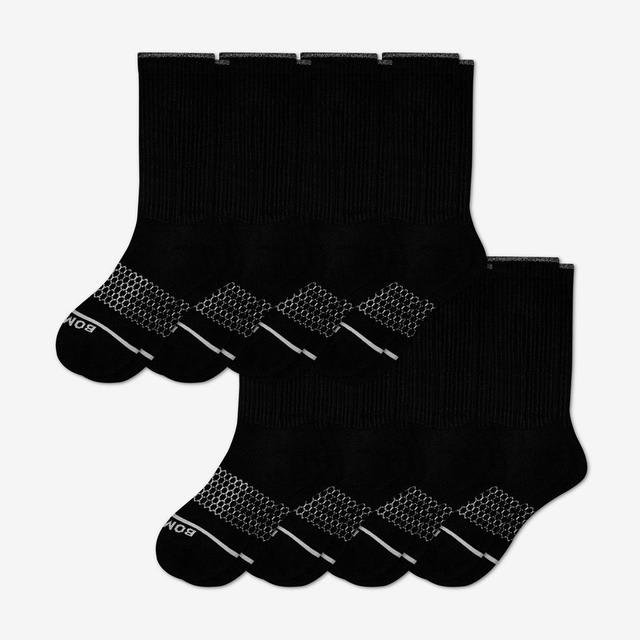 black Women's Merino Wool Calf Sock 8-Pack