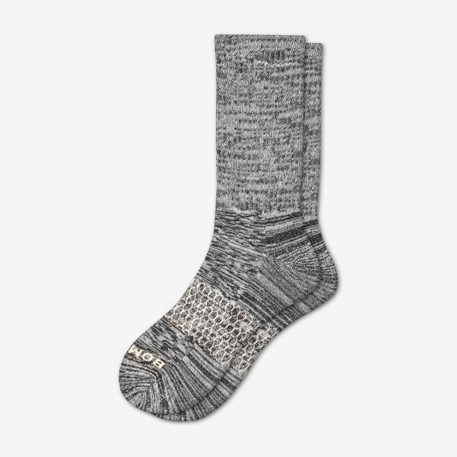 black Men's Winter Random Feed Calf Socks