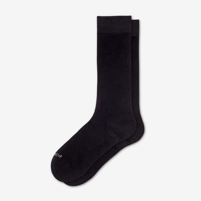 black Women's Lightweight Crew Sock