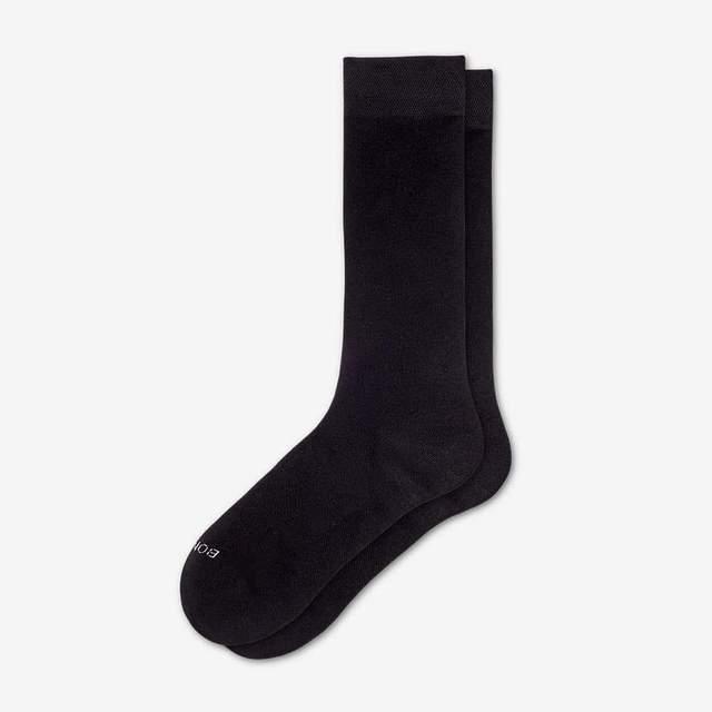 black Women's Lightweight Calf Socks