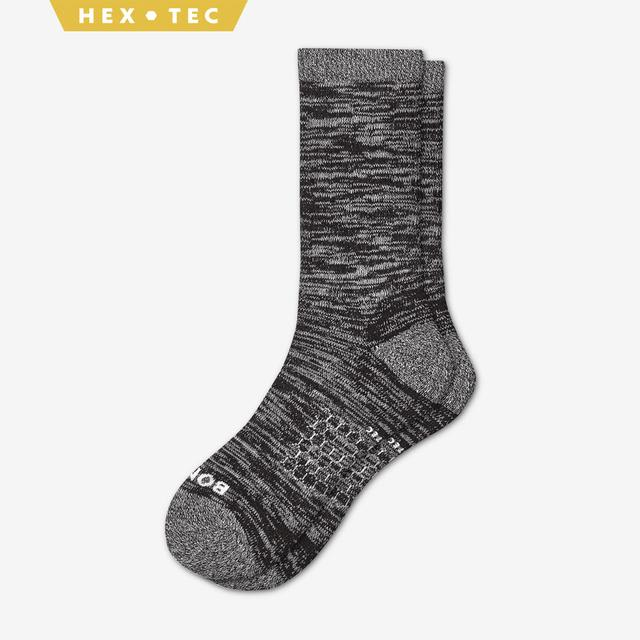 black Men's Hiking Calf Socks