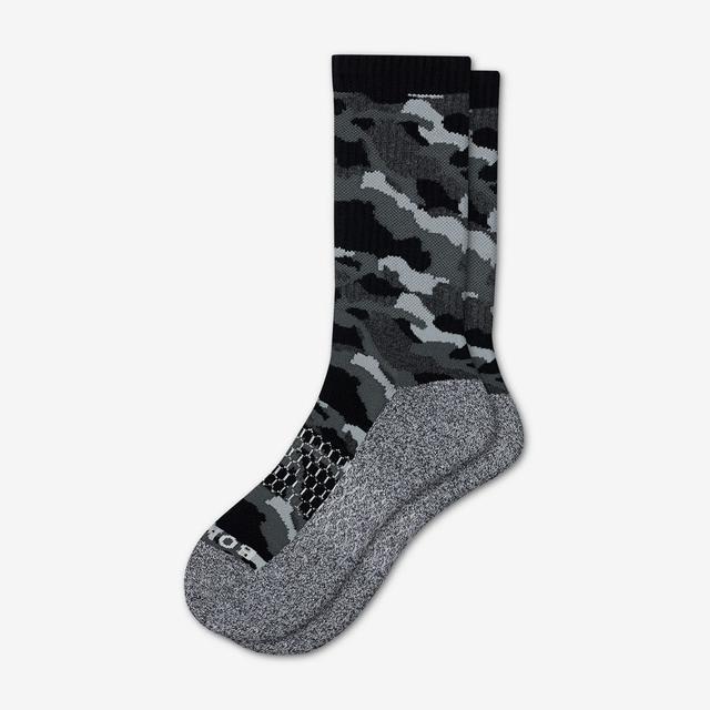 black Men's Camo Calf Socks