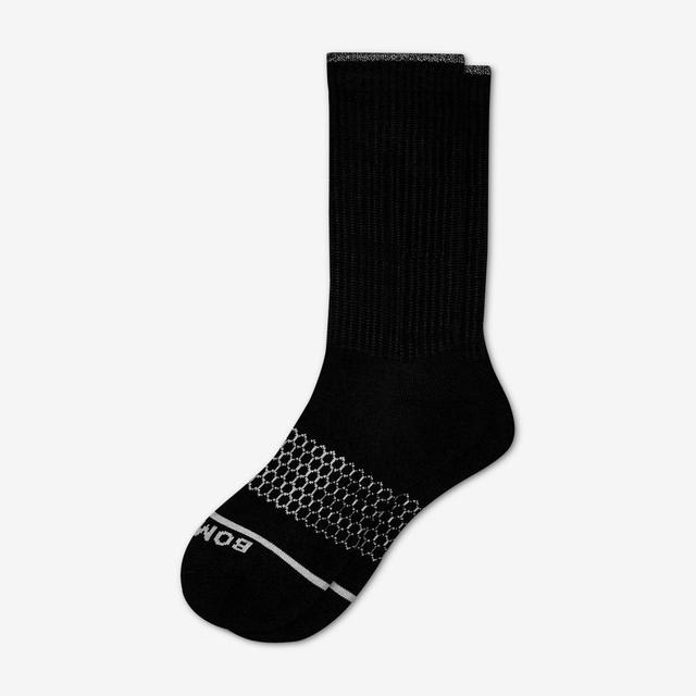 black Women's Merino Wool Calf Socks