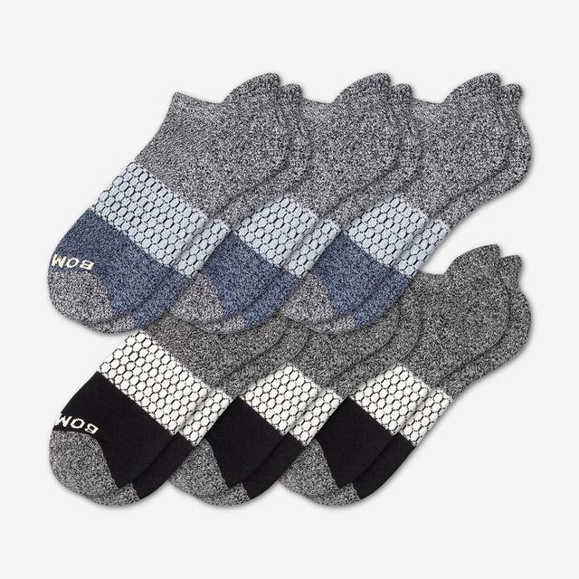 black-midnight Women's Tri-Block Marl Ankle Sock 6-Pack