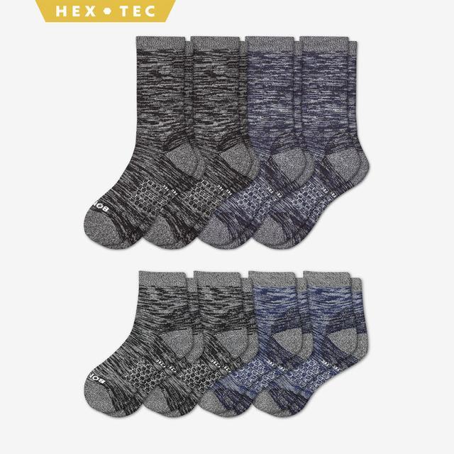 black-navy Men's Hiking Calf & Quarter Sock 8-Pack