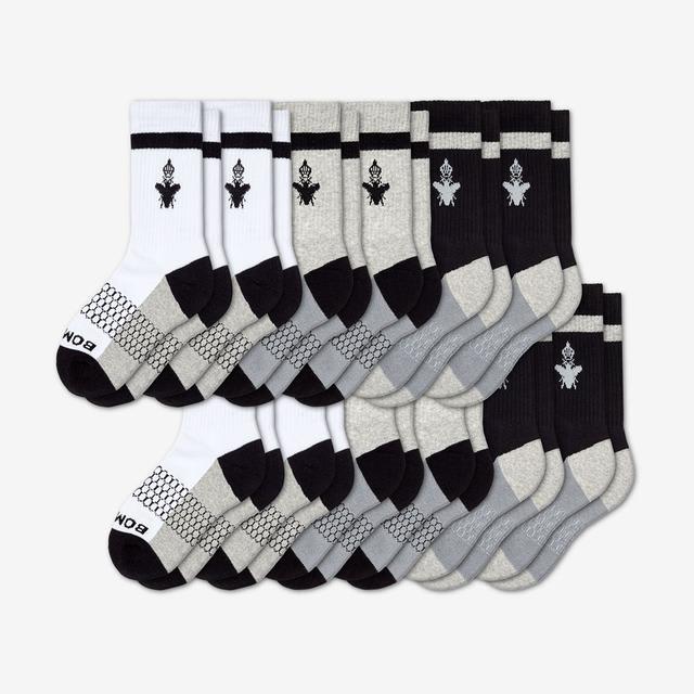 black-white-grey Youth Calf 12-Pack