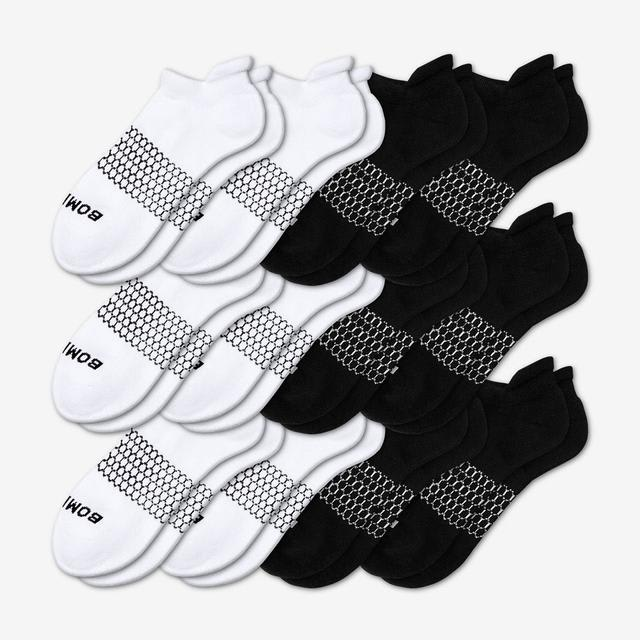 black-white Women's All-Ankle Sock 12-Pack
