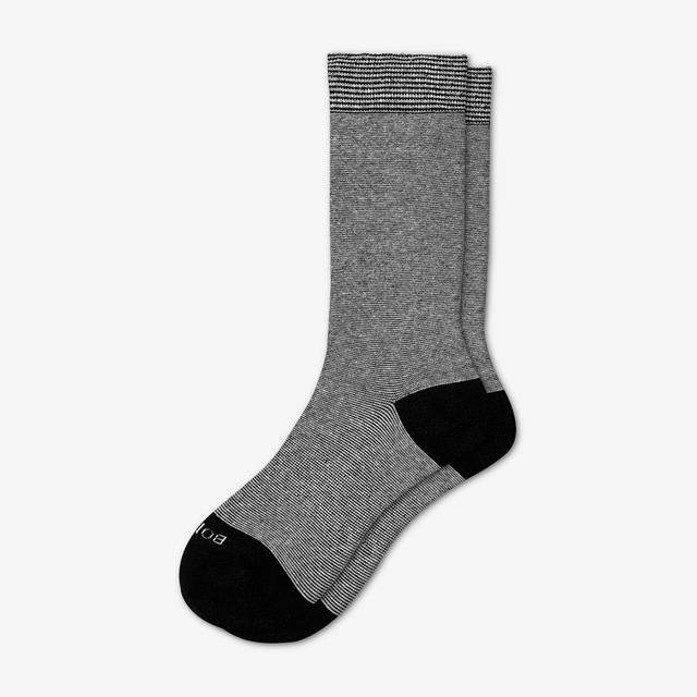 black-white-stripe Women's Lightweight Crew Sock