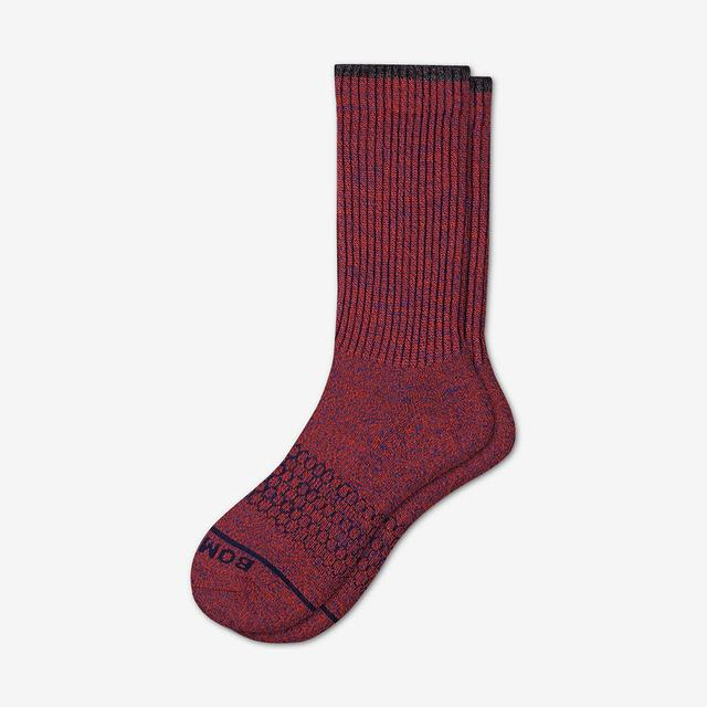 blood-orange-astral-blue Men's Merino Wool Calf Socks