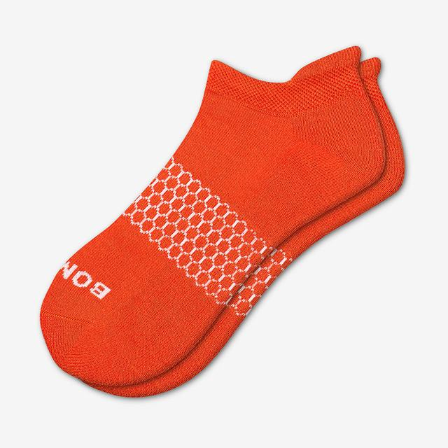 blood-orange Men's Solids Ankle Socks