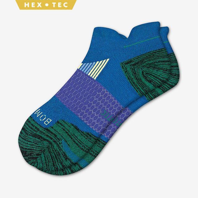 blue-green Men's Performance Running Ankle Sock