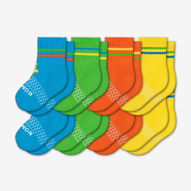 blue-green-orange-yellow Toddler Brights Sock 8-Pack