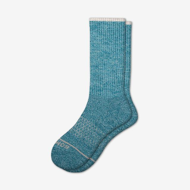 blue Women's Merino Wool Calf Socks