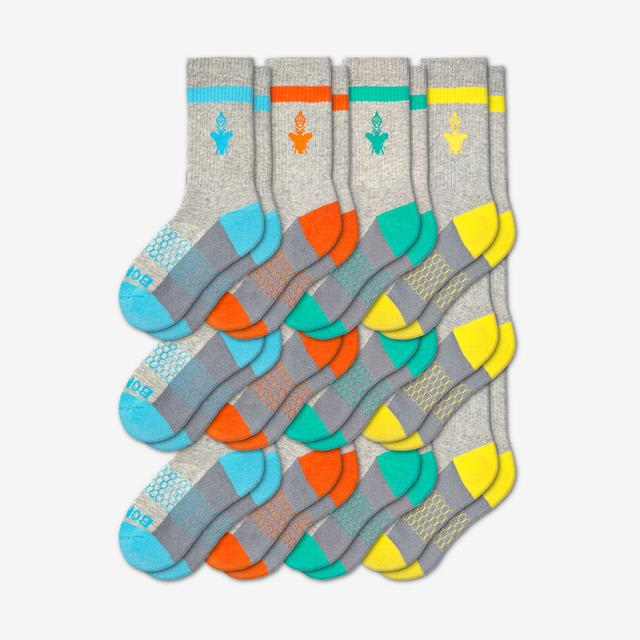 blue-orange-teal-yellow Youth Calf 12-Pack