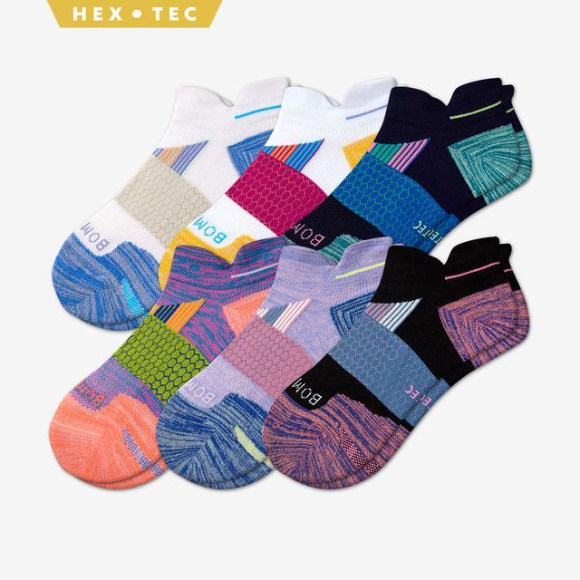 bright-multi Women's Performance Running Ankle Sock 6-Pack