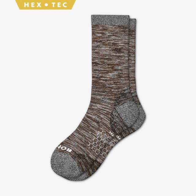 brown Men's Hiking Calf Socks