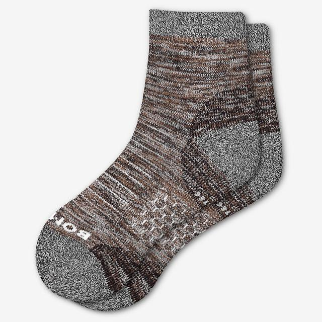 brown Women's Hiking Quarter Socks