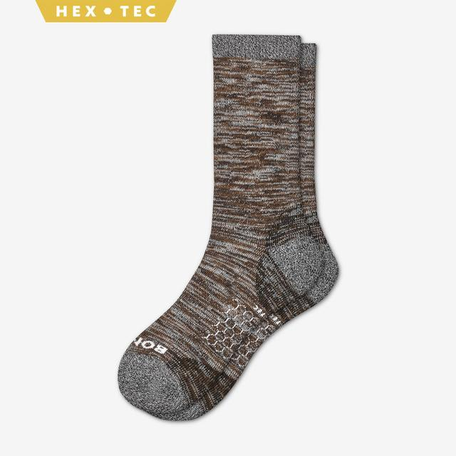 brown Women's Hiking Calf Socks