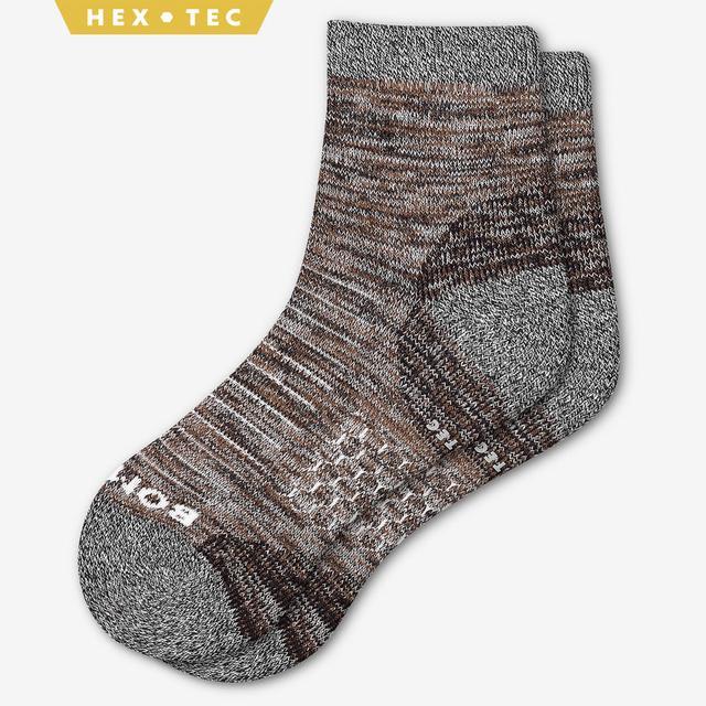 brown Men's Hiking Quarter Socks