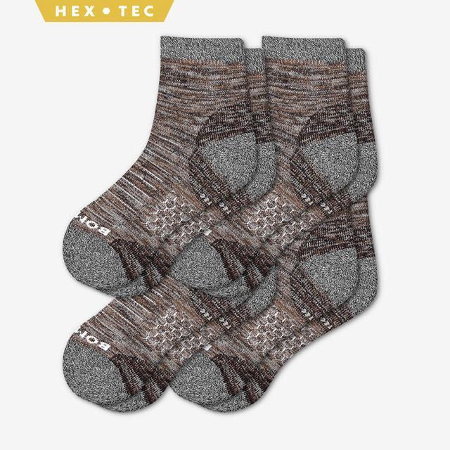 brown Men's Hiking Quarter Sock 4-Pack
