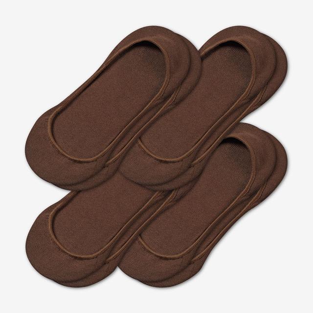 brown Women's Low-Cut No Show Sock 4-Pack