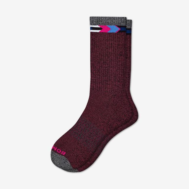 burgundy-graphite Men's Nordic Calf Sock