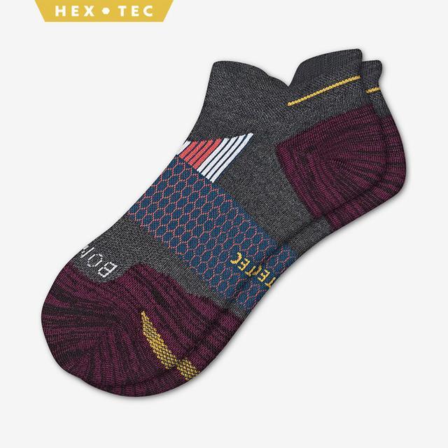 charcoal-blackberry Men's Performance Running Ankle Sock