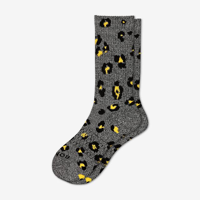 charcoal Men's Leopard Calf
