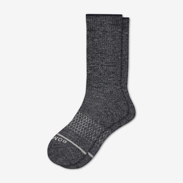 charcoal Men's Merino Wool Calf Socks