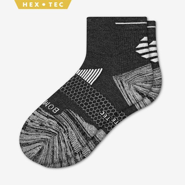 charcoal Men's Performance Running Quarter Sock