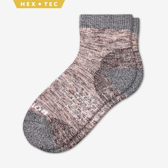 coral Women's Hiking Quarter Socks