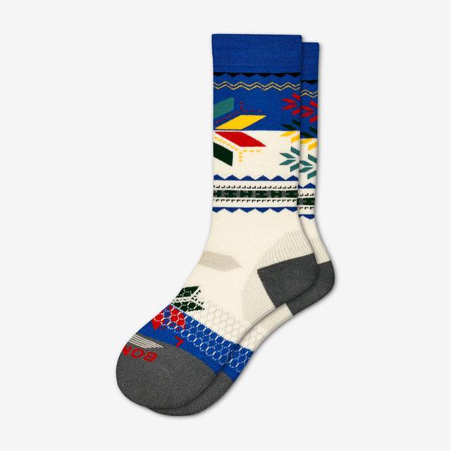 cream-blue Men's Hannah Teter x Bombas Socks